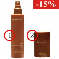 Солнцезащитный спрей для чувствительной кожи SPF 50 + Защитный карандаш для чувствительных зон SPF-50 Academie