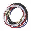 Резинки для волос с серебряной нитью, цветные Maxi Dewal, 10 шт.