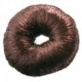 Валик для прически, искусственный волос, коричневый Dewal, 8 см.