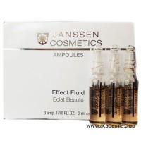 Лифтинг-сыворотка в ампулах с пептидами, стимулирующими синтез эластина Skin Contour Fluid Janssen, 3*2 мл