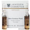 Лифтинг-сыворотка в ампулах с пептидами, стимулирующими синтез эластина Skin Contour Fluid Janssen, 25*2 мл