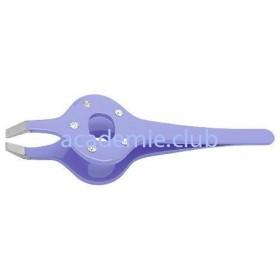 Пинцет Прямой (фиолетовый со стразами) PT-363 (5) -PP