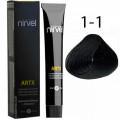 Краcка для волос 1-1 Черный металл (кобальт) Artx Nirvel, 60 мл.