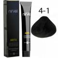 Краска для волос 4-1 Пепельный средне-каштановый Artx Nirvel, 60 мл.