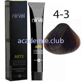 Краска для волос 4-3 Золотистый средне-каштановый Artx Nirvel, 60 мл.