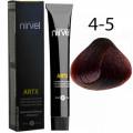 Краска для волос 4-5 Красное дерево каштановый Artx Nirvel, 60 мл.