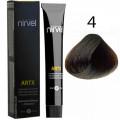 Краска для волос 4 Средний каштановый Artx Nirvel, 60 мл.