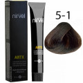 Краска для волос 5-1 Пепельный светло-каштановый Artx Nirvel, 60 мл.
