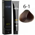 Краска для волос 6-1 Пепельный темный блондин Artx Nirvel, 60 мл.