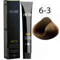 Краска для волос 6-3 Золотистый темный блондин Artx Nirvel, 60 мл.
