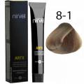 Краска для волос 8-1 Пепельный блондин Artx Nirvel, 60 мл.