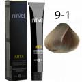 Краска для волос 9-1 Пепельный светлый блондин Artx Nirvel, 60 мл.