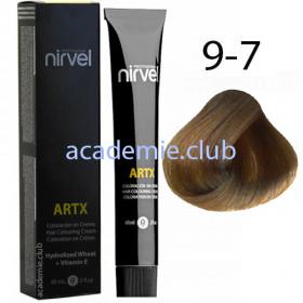 Краска для волос 9-7 Песочный светлый блондин Artx Nirvel, 60 мл.