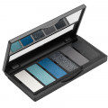 Палетка теней (6 оттенков) 01 Black/Blue Eyeshadow Palette Aden