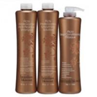 Набор (Очищающий шампунь, 1000гр  + Кератин, 1000гр  + Маска, 710гр) для выпрямления волос Brazilian Blowout + ПОДАРОК