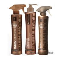 Набор (Ионный Клензер 450мл, Кератин 350мл, Ионный бонд 350мл) для выпрямления волос Brazilian Blowout
