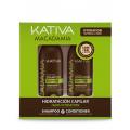 Набор интенсивно увлажняющий кондиционер + шампунь для нормальных и поврежденных волос Kativa Macadamia 2х100мл